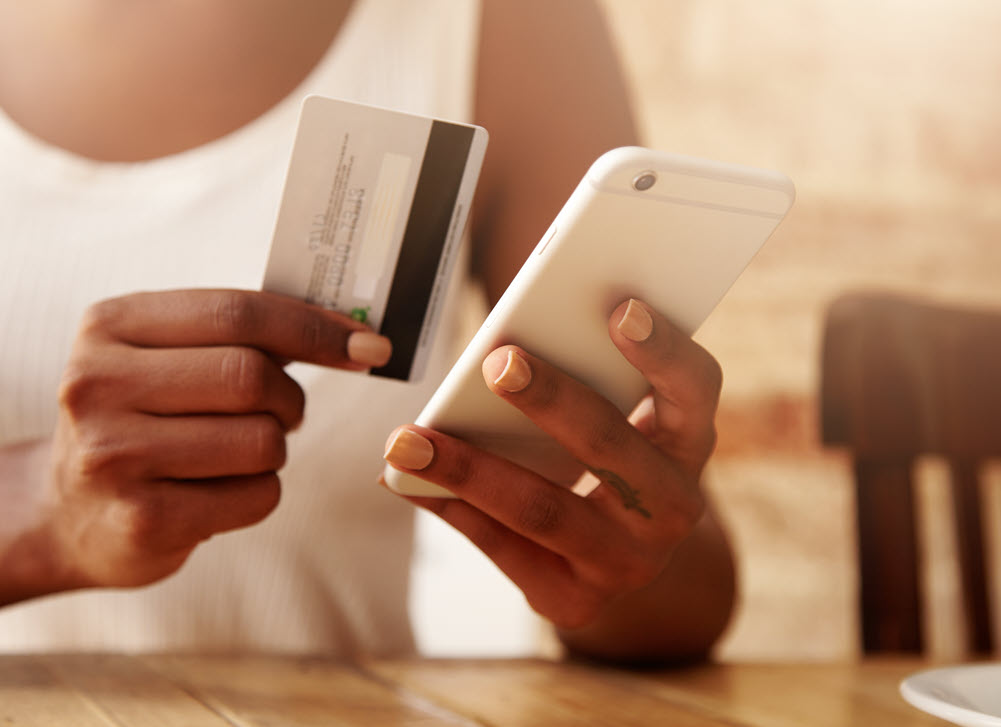 payment card & mobile phone